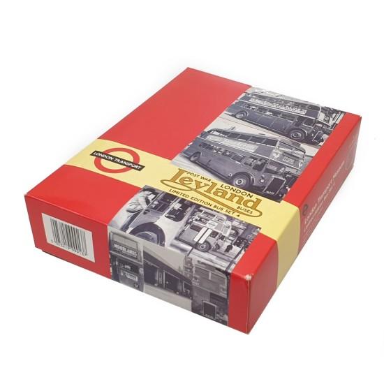 EFE 1/76 LONDON TRANSPORT MUSEUM SET 4 POST WAR LEYLAND BUSES 99913