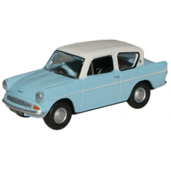 1/76 LT.BLUE/ERMINE WHITE FORD ANGLIA