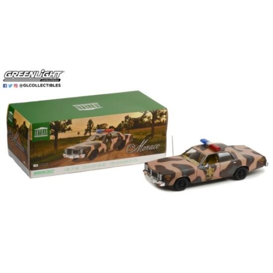 1/18 ARTISAN COLLECTION 1978 DODGE MONACO HAZZARD COUNTY CAMOUFLAGE SHERIFF