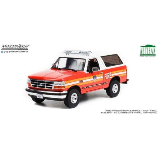 1/18 ARTISAN COLLECTION 1996 FORD BRONCO FDNY