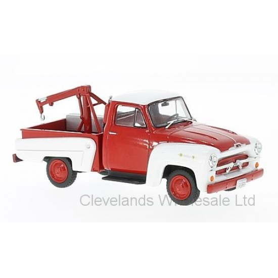 WBX233 - 1/43 CHEVROLET 3100 TOW TRUCK RED/WHITE 1956