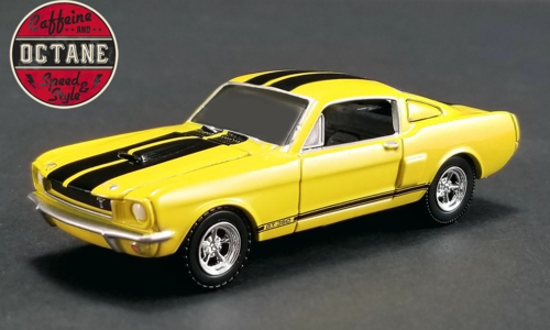 1/64 1966 SHELBY GT350 MUSTANG YELLOW AND BLACK