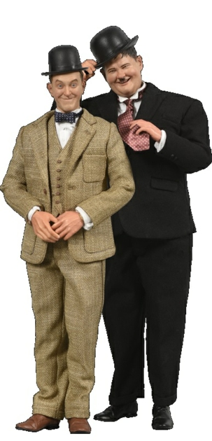 1/6 STAN LAUREL AND OLIVER HARDY CLASSIC SUITS FIGURE BOX SET LIMITED EDITION