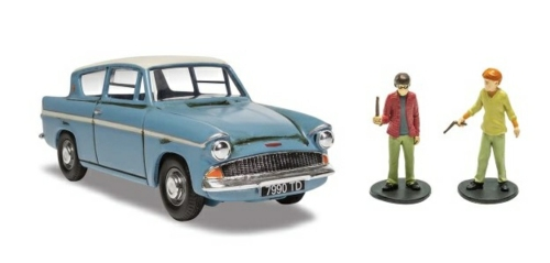 1/43 HARRY POTTER MR WESLEY'S ENCHANTED FORD ANGLIA - HARRY POTTER AND THE CHAMBER OF SECRETS
