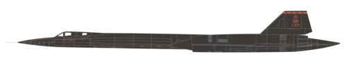 1/72 SR-71A BLACKBIRD 61-7971 USAF 9TH RW DET-2 EDWARDS AFB CA 1997