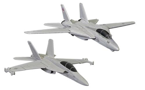 MAVERICK & GOOSE'S F14 TOMCAT (TOP GUN, 1986) AND ROOSTER'S F/A-18 HORNET (TOP GUN MAVERICK, 2020)