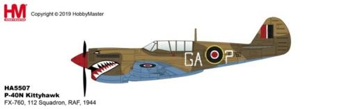 1/72 P-40N KITTYHAWK FX-760, 112 SQUADRON, RAF, 1944