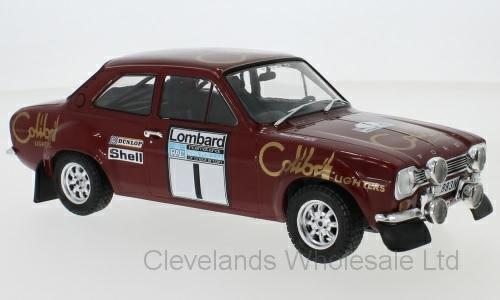 1/18 FORD ESCORT MK1 RS1600 NO.1 RAC RALLY T.MAKINEN H.LIDDON 1974