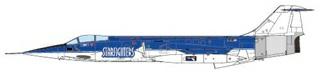 1/72 F-104 STARFIGHTER STARFIGHTERS AEROSPACE AEROBATIC TEAM