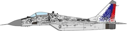 1/72 MIG-29AS FULCRUM SLOVAK AIR FORCE, 1ST LETKA, SLIAC AIR
