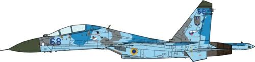 1/72 SU-27UB FLANKER-B UKRAINIAN AIR FORCE, 831 IAP, 2000