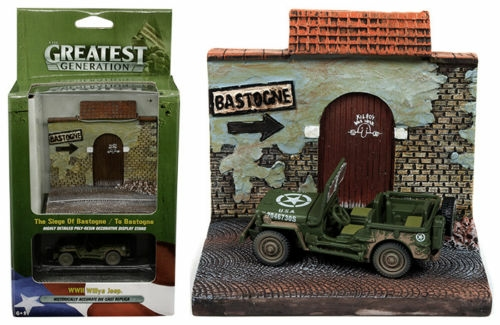 1/64 WILLYS MB JEEP AND TO BASTOGNE DIORAMA