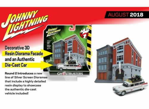 1/64 1959 CADILLAC GHOSTBUSTERS ECTO 1A WITH FIREHOUSE