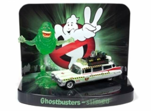 1/64 1959 CADILLAC GHOSTBUSTERS ECTO 1A WITH SLIMER FIGURE