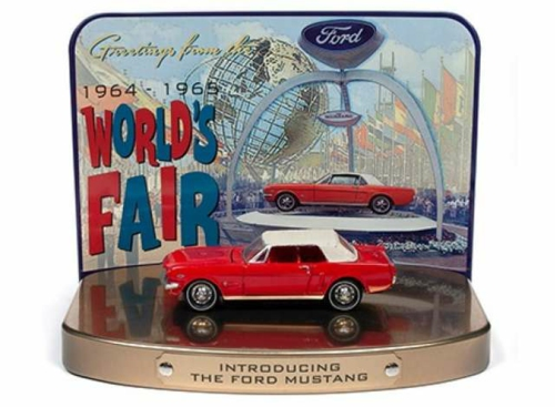 1/64 1964 FORD MUSTANG RED WITH COLLECTORS TIN