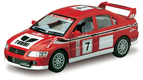 1/36 MITSUBISHI LANCER EVO VII WRC NO.7, RED/WHITE