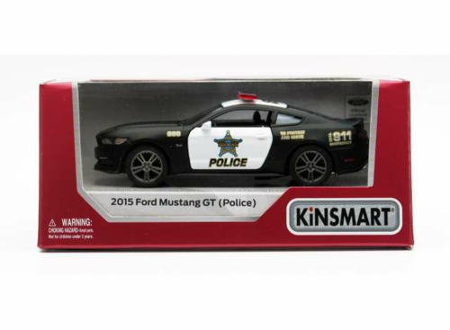 1/38 2015 FORD MUSTANG GT POLICE, BLACK/WHITE