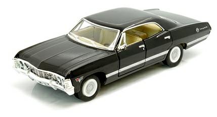 1/36 1967 CHEVROLET IMPALA 4-DOOR, BLACK SUPERNATURAL THE TV SERIES LOOK-A-LIKE