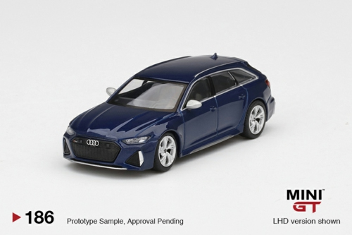 1/64 AUDI RS6 AVANT NAVARRA BLUE METALLIC (LHD)