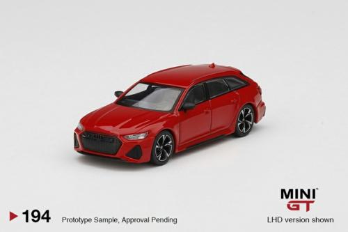 1/64 AUDI RS6 AVANT CARBON BLACK EDITION TANGO RED (RHD)