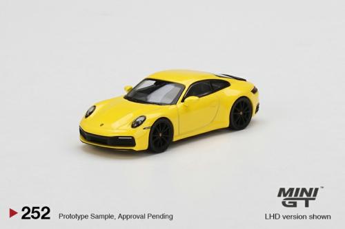 1/64 PORSCHE 911 (992) CARRERA 4S RACING YELLOW (RHD)