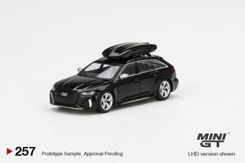1/64 AUDI RS 6 AVANT MYTHOS BLACK METALLIC W/ ROOF BOX (RHD)