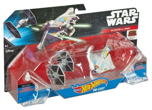 HOTWHEELS STAR WARS 2 VEHICLE PACK TIE FIGHTER AND GHOST