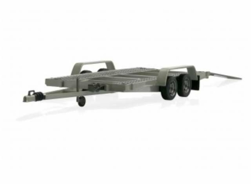 1/18 CAR CARRIER TRAILER SILVER GREY