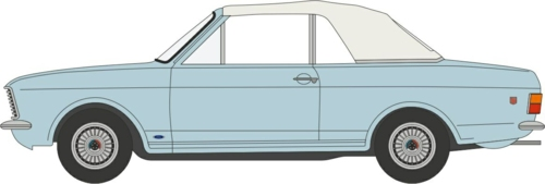 1/43 FORD CORTINA MKII CRAYFORD CONVERTIBLE BLUE MINK ROOF UP