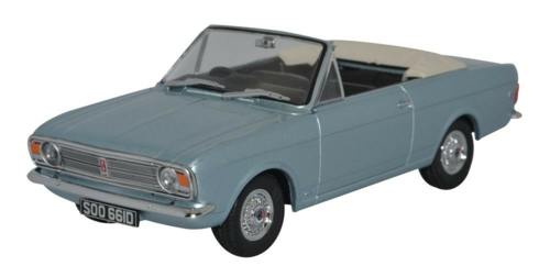 1/43 FORD CORTINA MKII CRAYFORD CONVERTIBLE BLUE MINK (ROOF DOWN)