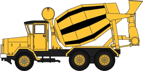 1/76 AEC 690 CEMENT MIXER YELLOW AND BLACK