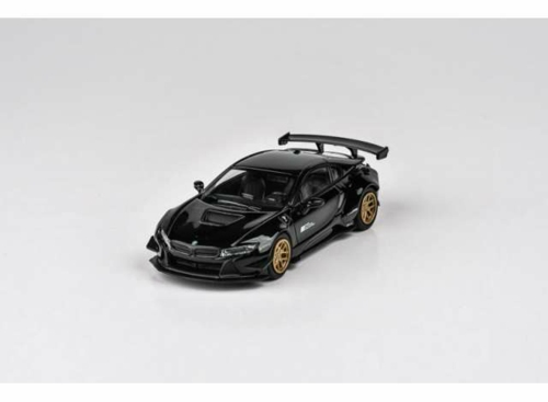 1/64 2018 LIBERTY WALK BMW I8 LHD BLACK/GOLD RIMS