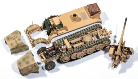 1/72 GERMAN SD.KFZ.8 DB9 FLAK 18 88MM CAMOUFLAGE 1942