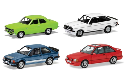 1/43 FORD ESCORT RS COLLECTION, FORD'S RS ESCORTS, FOUR DECADES OF SUCCESS