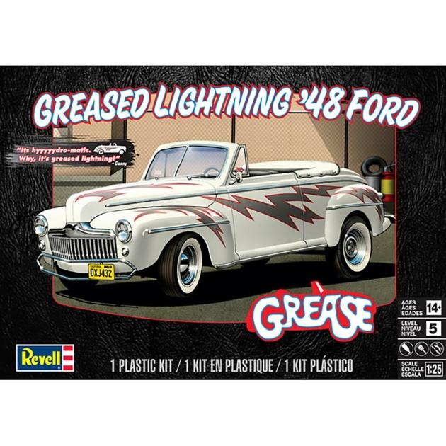 1/25 GREASED LIGHTNING 48 FORD FILM GREASE (PLASTIC KIT)