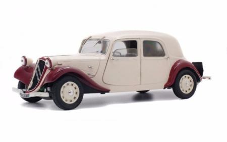 SOL1800901 - 1/18 CITROEN 11CV RED/BEIGE 1938
