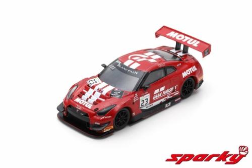 1/64 2018 NISSAN GT-R NISMO GT3 GT SPORT MOTUL TEAM RJN NO.23 M.PARRY/A.BUNCOMBE/L.ORDONEZ 24H SPA (RESIN)