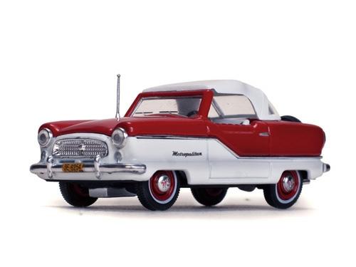 1/43 1959 NASH METROPOLITAN COUPE, WHITE/MARDI GRAS RED
